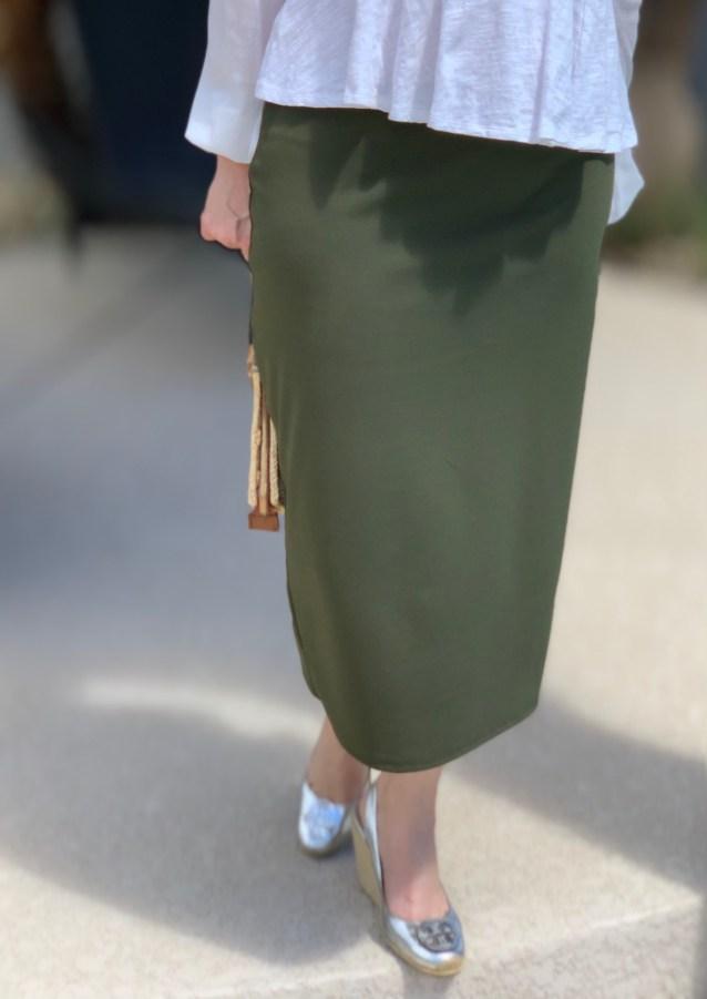 Olive Green modest pencil skirt