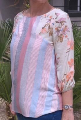 stripe floral blouse