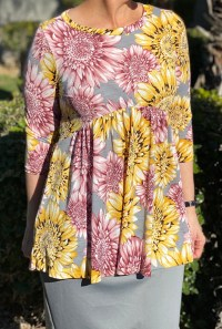 Spring Floral High Low Tunic