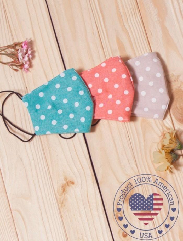Face mask polka dot reusable