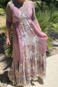 Mauve Tassel Bohemian Maxi Dress