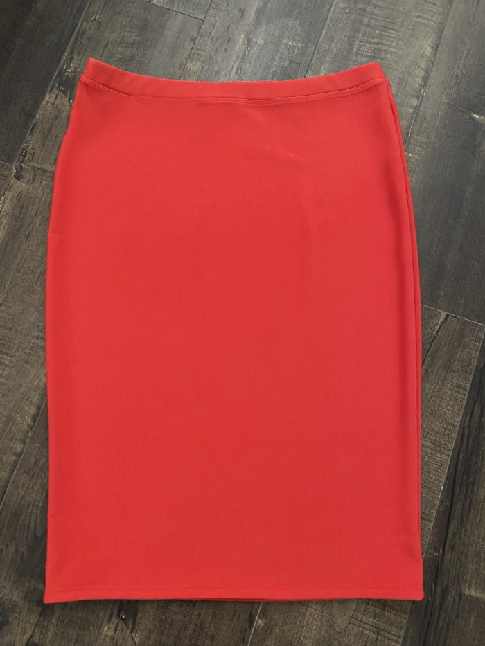 Coral Modest Pencil Skirt
