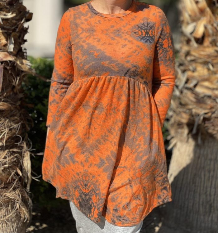 Rust High Low Pocket Tunic