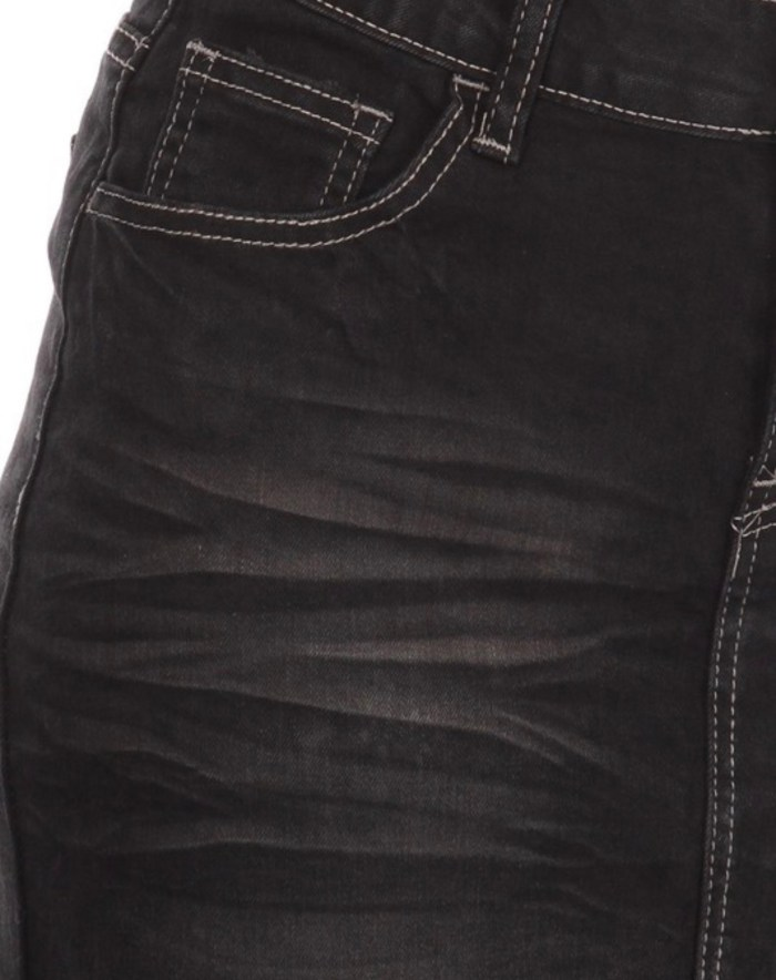 Black Wash Stretch Twill Skirt