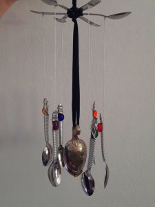I Made a wind chime out of old spoons