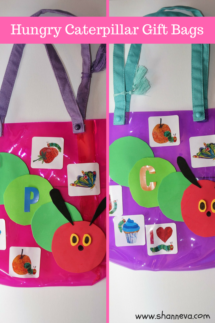 Very Hungry Caterpillar inspired treat or swag bags