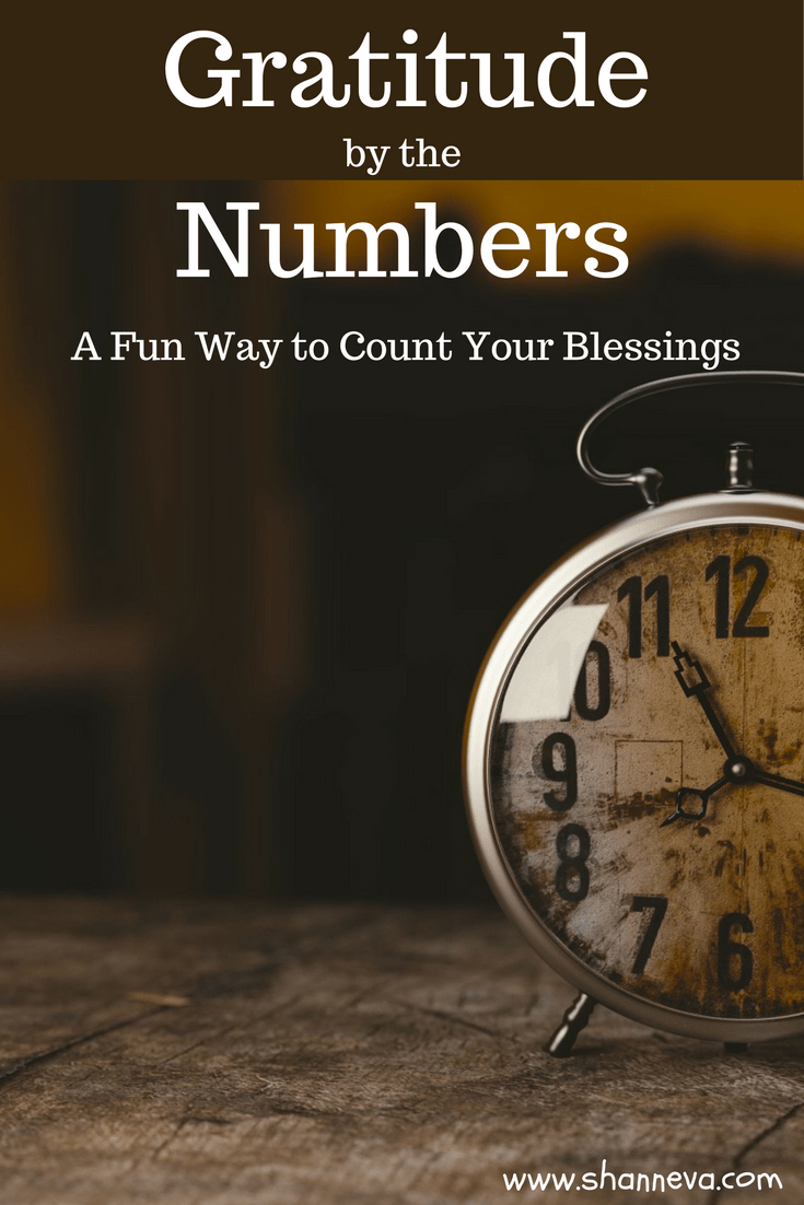Count your blessings in a unique and fun way every week. Gratitude by the numbers is a cool way to think of things.