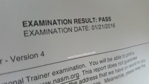 I passed
