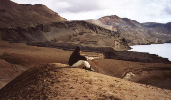 Steph takes a moment to soak in the view.