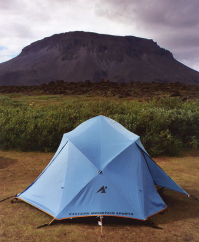 The final place I called home... in the shadow of the great Herðubreið.