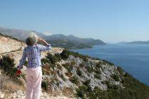 Mona looking toward Dubrovnik