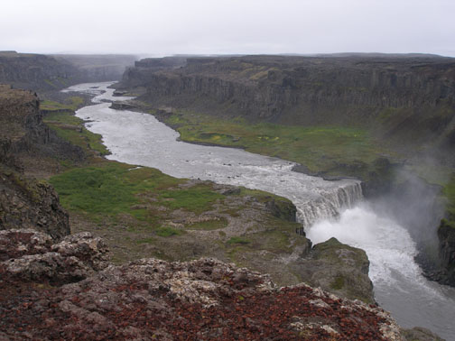 The Dettifoss canyon, where we've been working with this group of volunteers