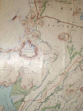 Here's our map! Our hike starts at the bottom and goes all the way to the top.