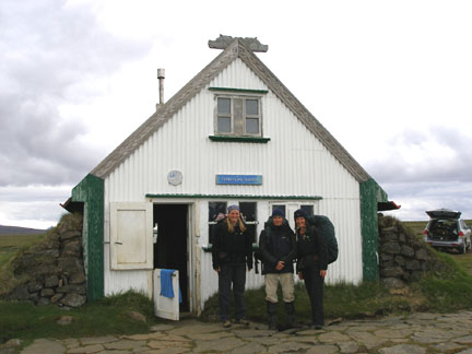 We begin at the Haunted Hut of Hvítárnes, and by we I mean myself, Roger (UK) and Steph (AUS).