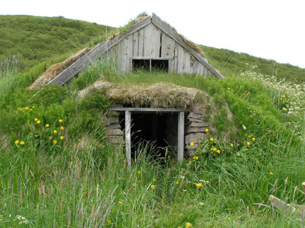 Turf buildings were necessary in Iceland because they utilize Iceland's abundant resources: turf, stones, and small amounts of driftwood.