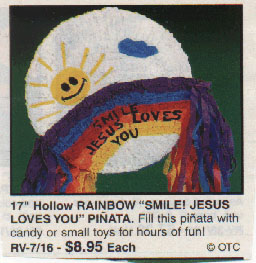 Fill with candy or small toys, then beat the snot out of it with a broom handle  in a sanctioned frenzy of violence and greed-  and remember to smile, 'cause Jesus loves you!
