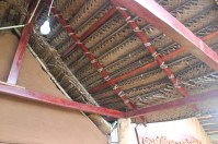These woven palm roofs are quite common- they last about two years before needing to be replaced.