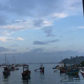 Early morning fishing boats