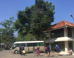 Our trusty bus, which took us nearly 1,500 km around the country