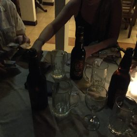 """The nightly scramble of figuring out the bill, and occasionally figuring out that they had """"accidentally"""" charged us for NINE extra cocktails..."""