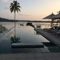 Infinity pool at sunset