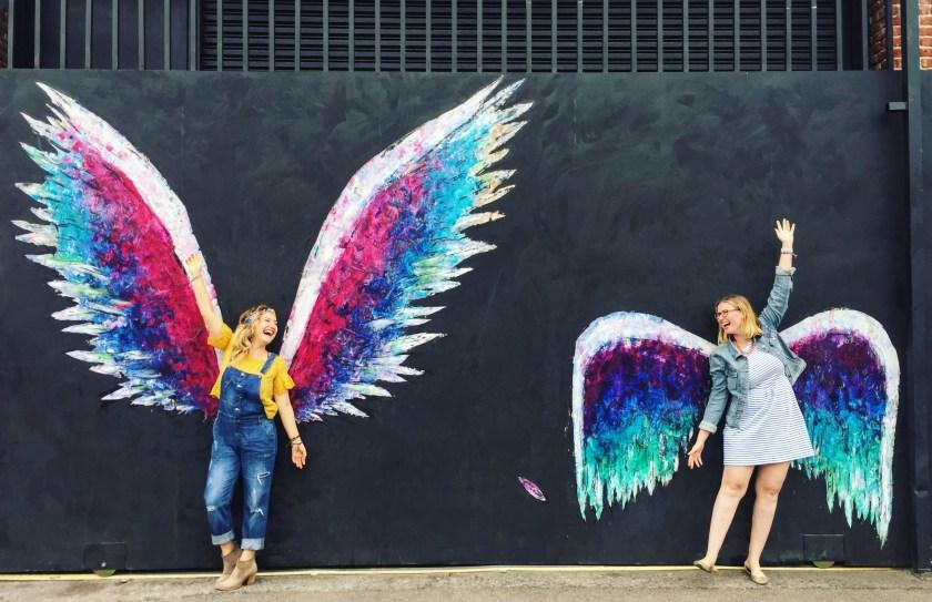 LA arts district, la arts district art murals, best art murals in LA, wings mural in LA, instagrammable murals in LA, yellow conference, yellow conference 2017, female entrepreneurs