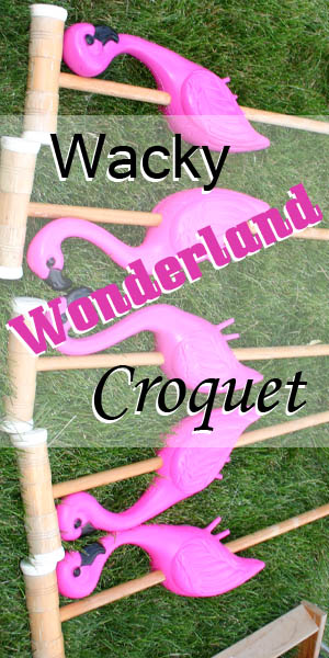 Wacky Wonderland Croquet A fun game of Croquet we played and how we did it.