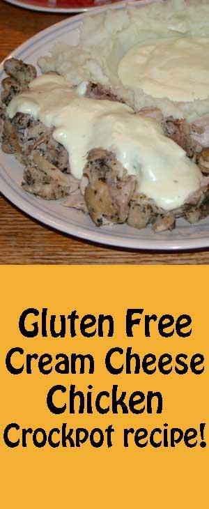 Gluten Free Cream Cheese Chicken- Crockpot