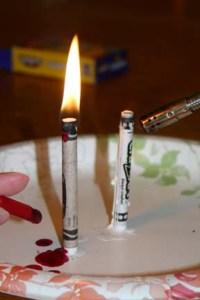 The CraZArt crayon didn't want to keep burning.