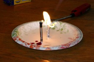 Crayons that burn like a candle