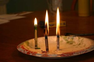 All colored crayons burn the same color of flame.