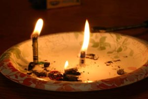 Dangers to burning a crayon like a candle