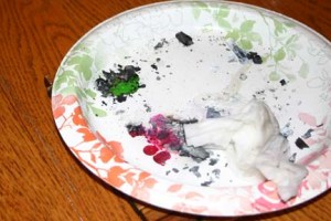 It can be a little messy! Snuffing it out with a damp paper towel
