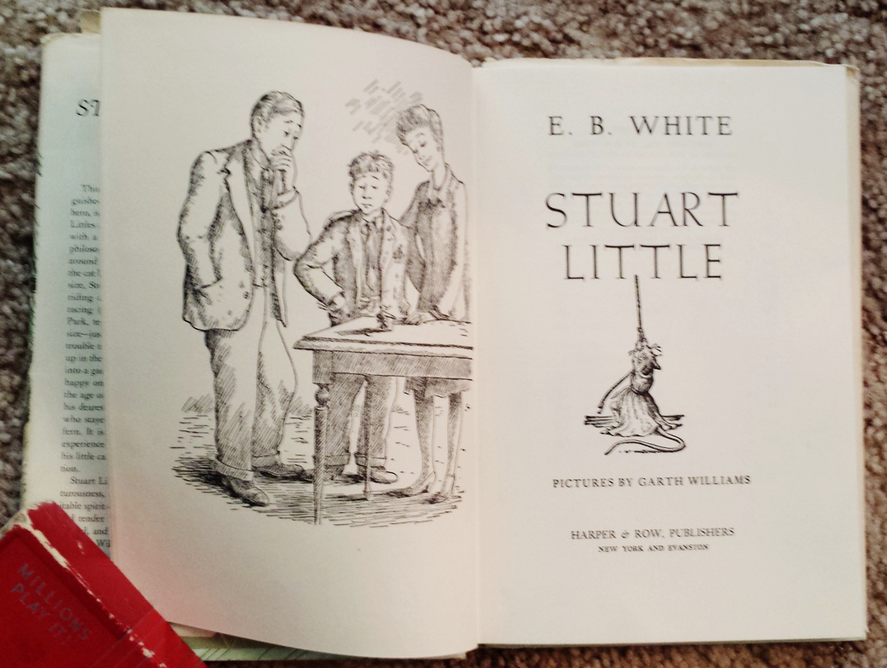Stuart Little A Book For Children E B White Vintage