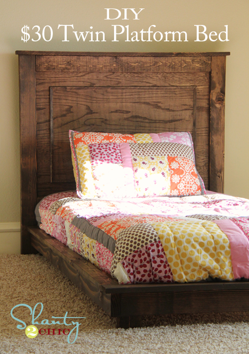 30 Pottery Barn Inspired Twin Platform Bed Shanty 2 Chic