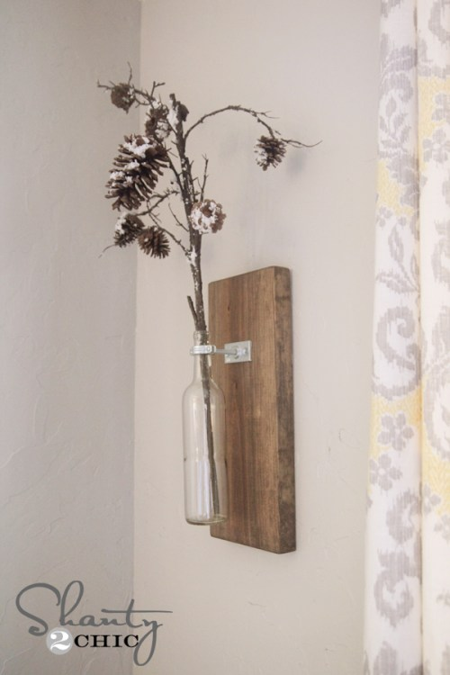Wine Bottle Wall Vase Shanty 2 Chic