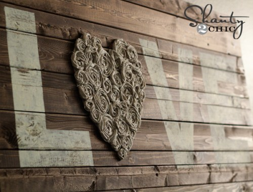 diy wood sign with flowers
