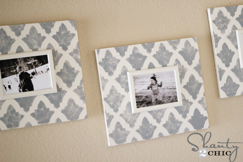 shabby chic photo wall