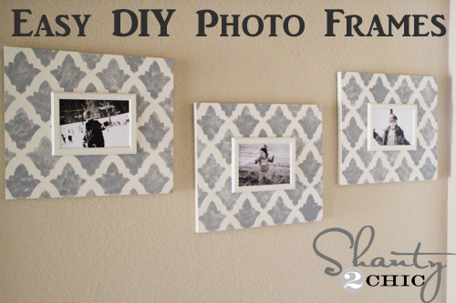 DIY Stenciled Frames
