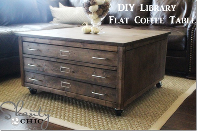 Check Out My Awesome Diy Coffee Table On Wheels Shanty 2 Chic