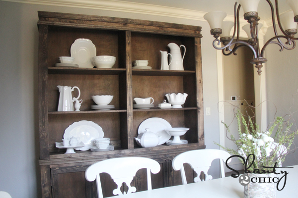 Restoration Hardware Inspired Dining Hutch