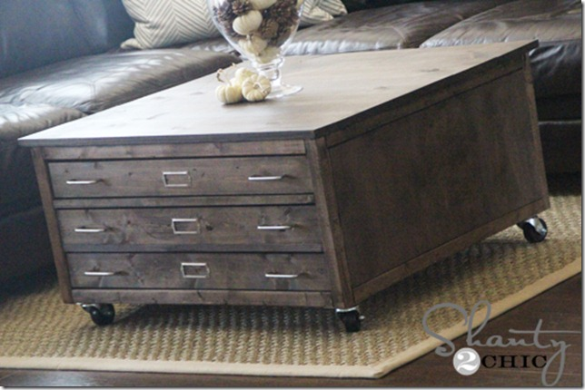 pottery barn knock off coffee table
