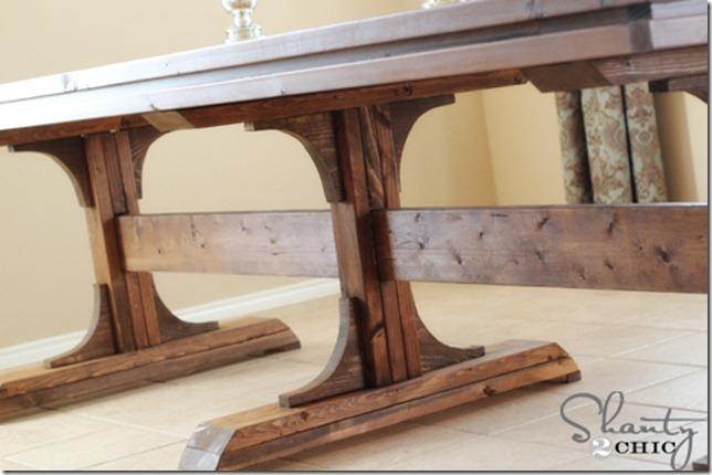 DIY wooden table