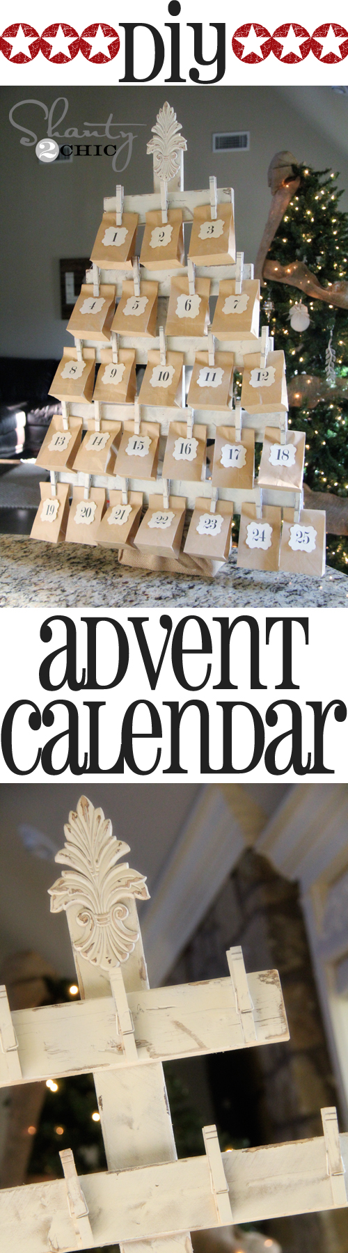 Wood Advent Calendar with FREE Printables