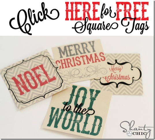 Click Here For Free Square Tags