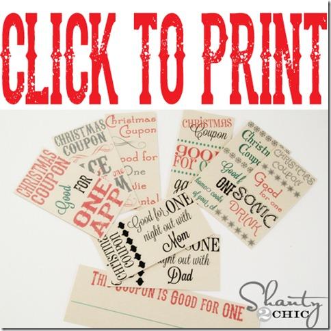 Click to Print Christmas Coupons