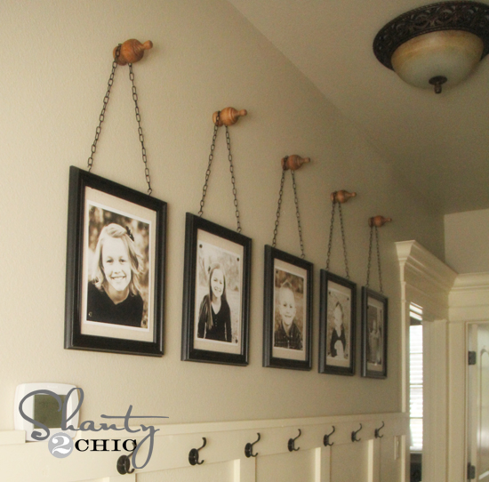wall frames with chains