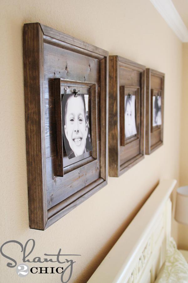 Diy Wall Art 15 Wooden Frames Shanty 2 Chic