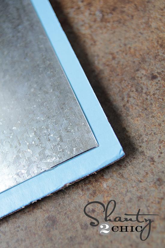 Glue Sheet metal to cardboard