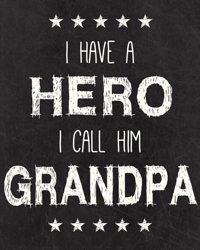 Grandpa Hero Printable